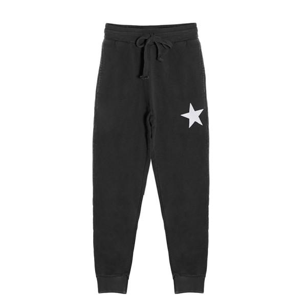 Jogging felpa unisex kids felpa stella bianca nero