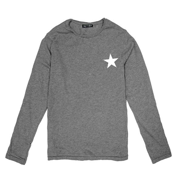 T-shirt m/l unisex kids stella bianca grigio chiaro melange