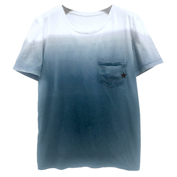 T-shirt uomo m/c tie dye in jersey c/taschino stella b