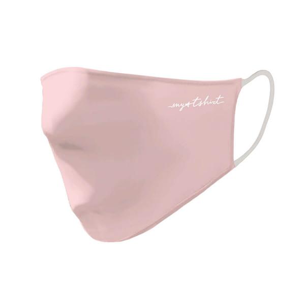 Mascherina girl logo my t-shirt bianco rosa