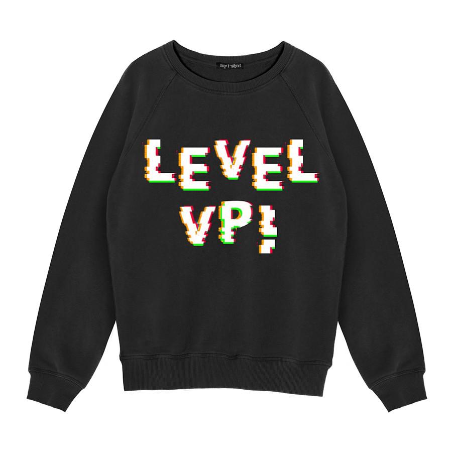 Felpa girocollo basica kids level up! ner