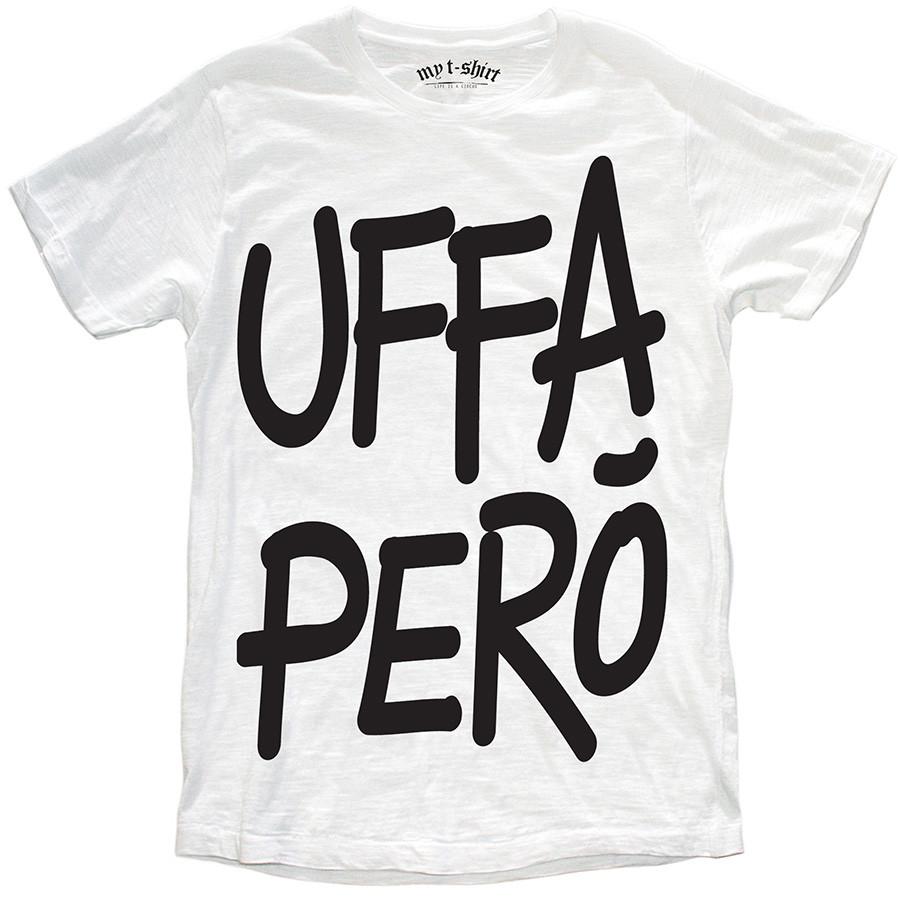 T-shirt malfile'grafica boy uffa pero' bianc