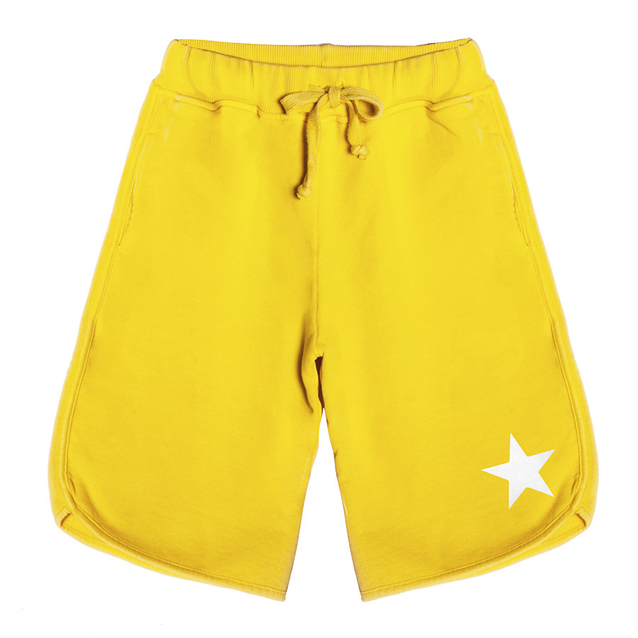 Bermuda baby fleece boy stella bianca giallo sol