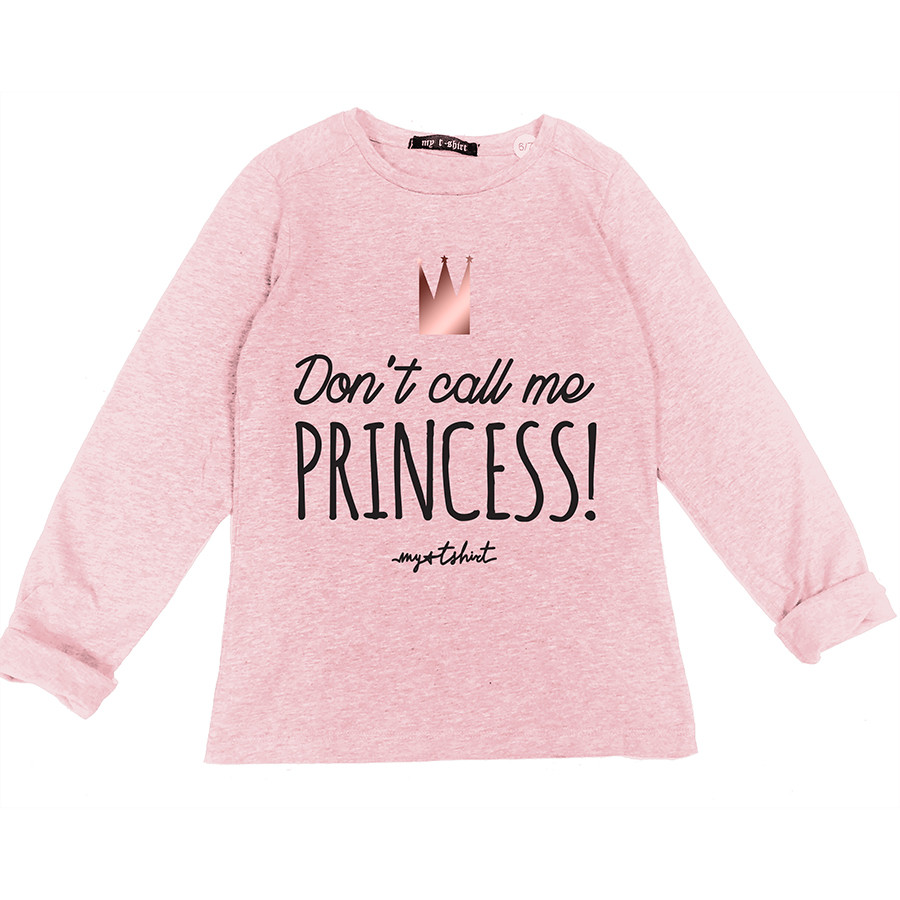 T-shirt baby m/l t.unita don't call me princess lamina