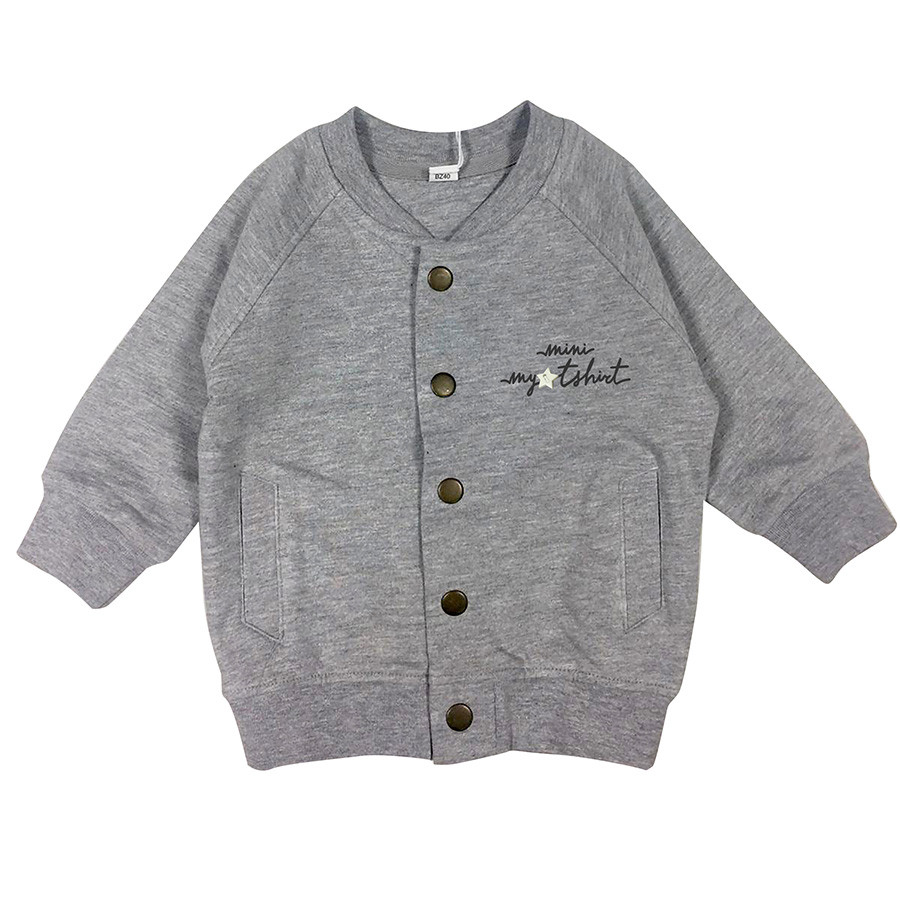 Giacca bomber in felpa baby mini my t-shirt grigio chia