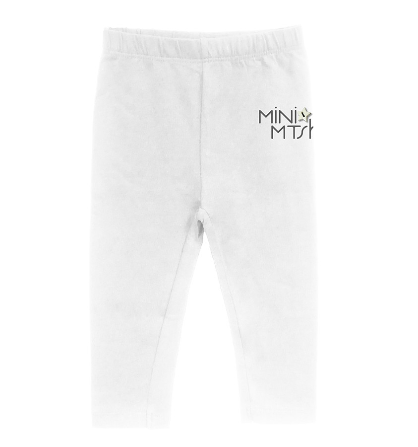 Legging baby jersey st.mini mtsh+bottone bianco