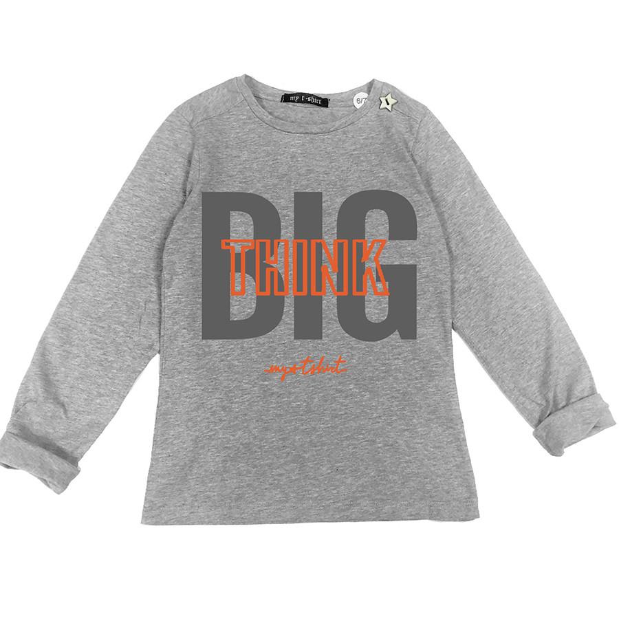 T-shirt baby m/l t.unita st.think big grigio melang