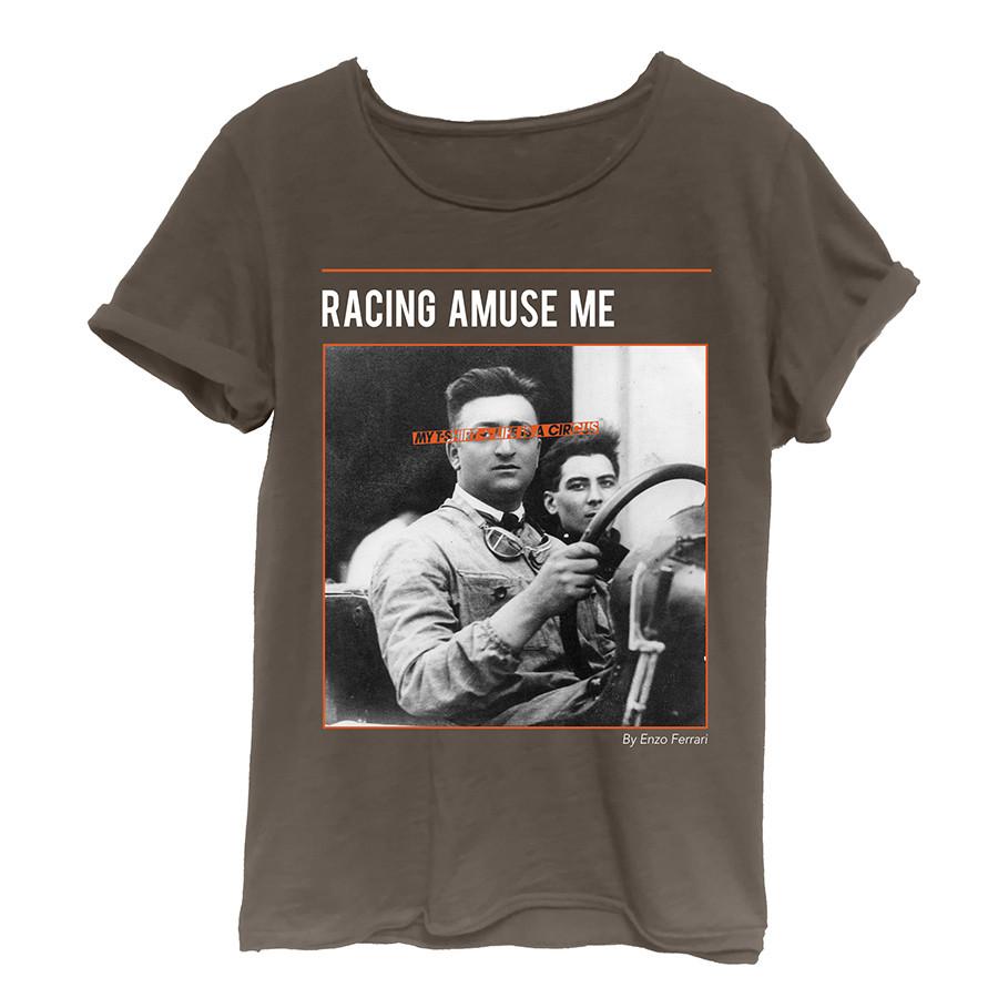 T-shirt m/c jersey rocker uomo racing amuse me bruci
