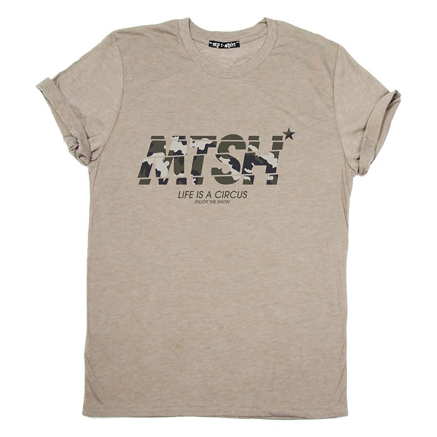 T-shirt m/c uomo mtsh camo desert army