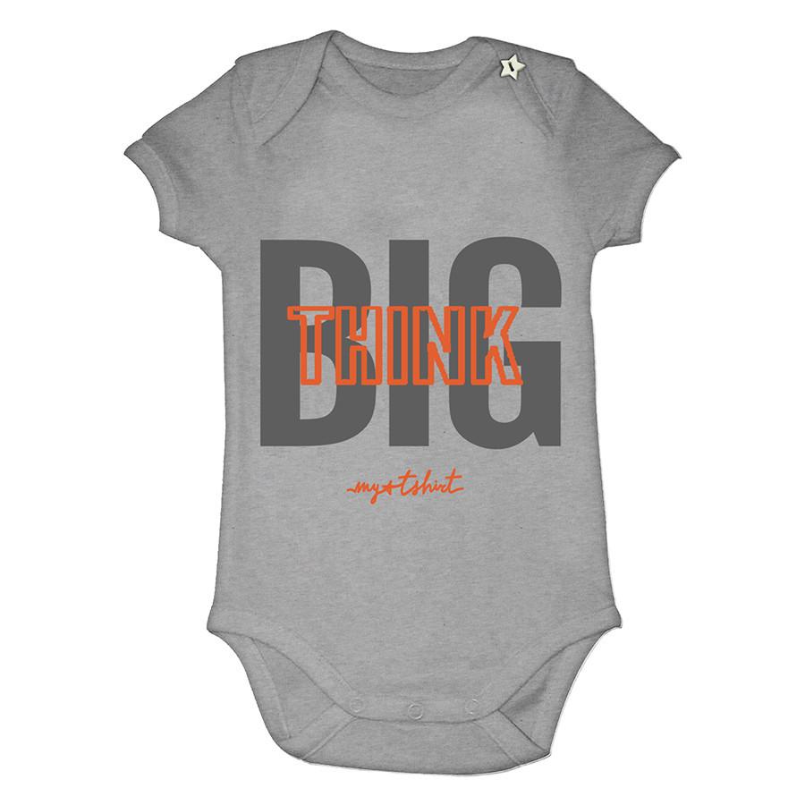 Body baby m/c organica think big grigio melang