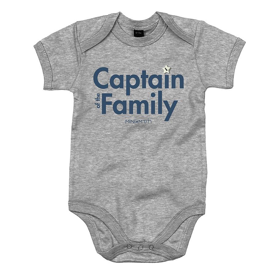 Body baby m/c st.captain family grigio melange