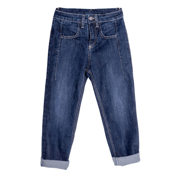 Denim baggy boy stella righe denim blu scur