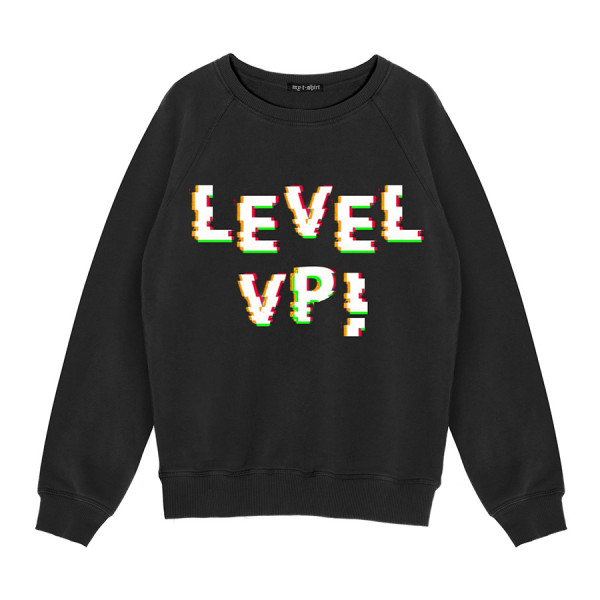 Felpa girocollo basica kids level up! ner