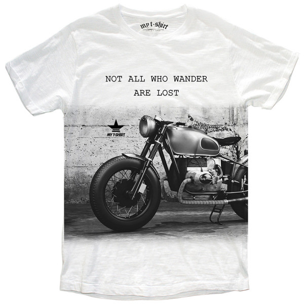 T-shirt malfile' grafica boy motor big bianc