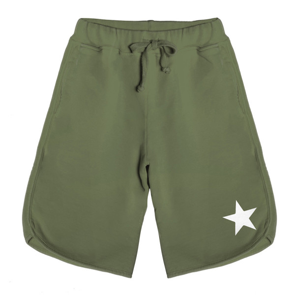 Bermuda baby fleece boy stella bianca verde militar