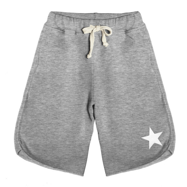 Bermuda baby fleece boy stella bianca grigio chiaro m