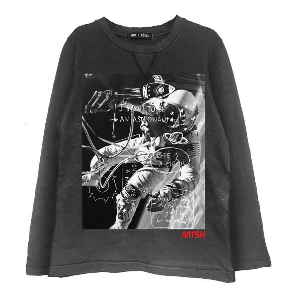 T-shirt rocker m/l space foto mtsh flock lavagn