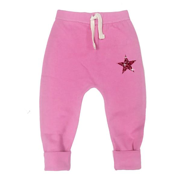 Pantaloni felpati baby stella rossa glitter fuxi