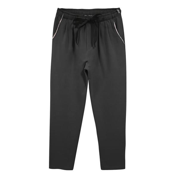 Jogging girl doppia pences in felpa leggera bordo tasca