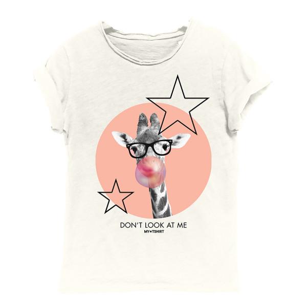 T-shirt rocker m/c kids giraffa avori