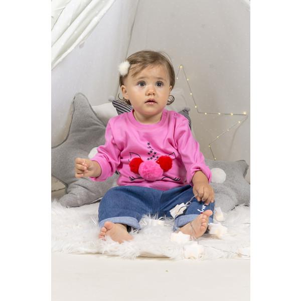 T-shirt baby m/l t.unita unicorn pompon fuxi