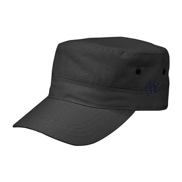 Cappello stile militare kids stella nero