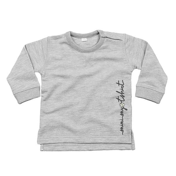 Felpa girocollo baby m/l mini my t-shirt grigio chiar