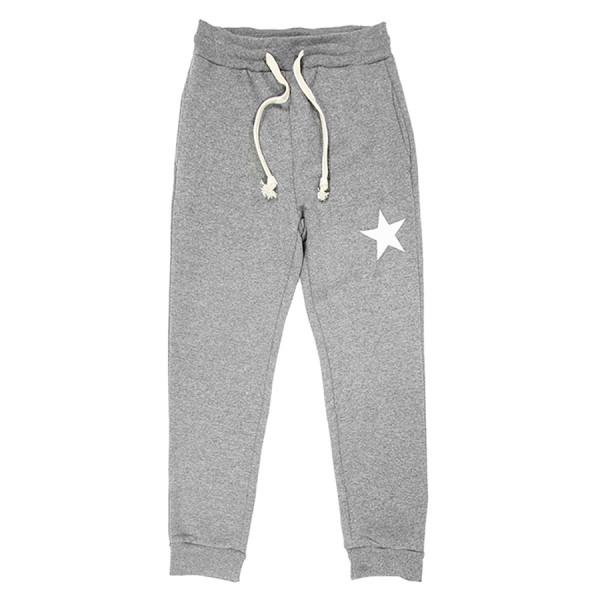 Jogging felpa unisex kids felpa stella bianca grigio ch