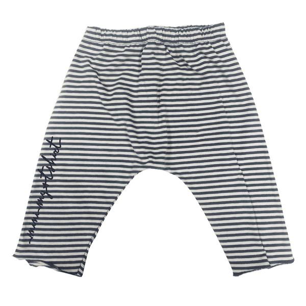 Pantaloni baby jersey rigato mini my t-shirt righe blu/