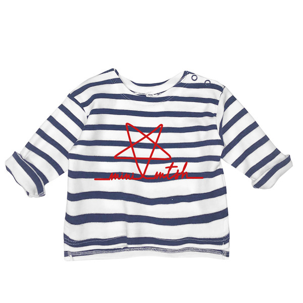 T-shirt baby m/l a righe mini mtsh stella rossa rigonf