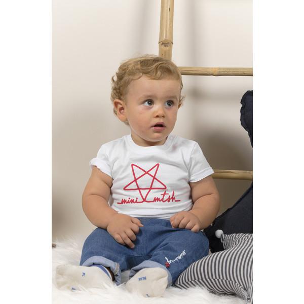 T-shirt baby m/c organica mini mtsh stella rossa spess