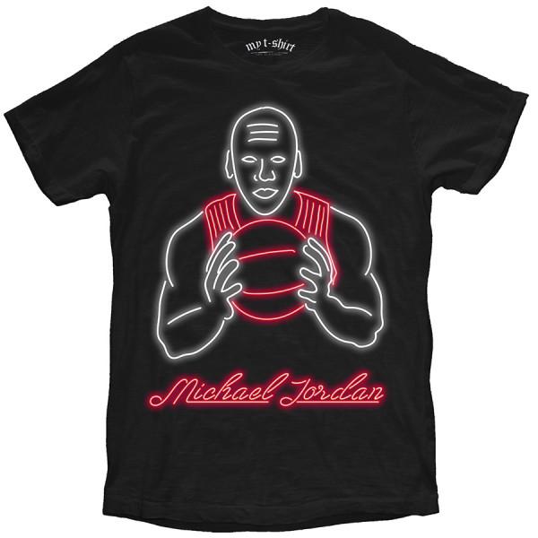 T-shirt malfile' grafica uomo jordan neon ner