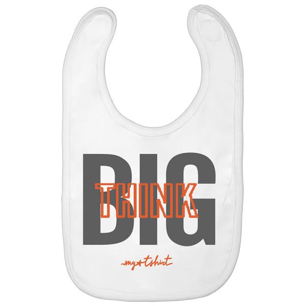 Bavaglino baby think big bianc
