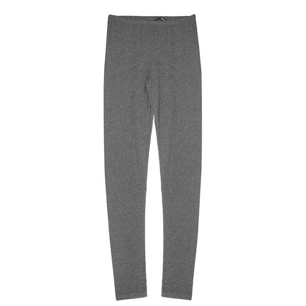 Leggings donna bielasticizzato grigio melange scuro